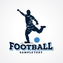Football Sport Silhouette Logo Designs Template