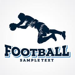 Football Sport Silhouette Logo Designs Template