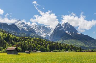 Alpen Panorama Garmisch-Partenkirchen Bayern Deutschland