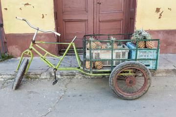 Pineapple cart, Trinidad, Cuba