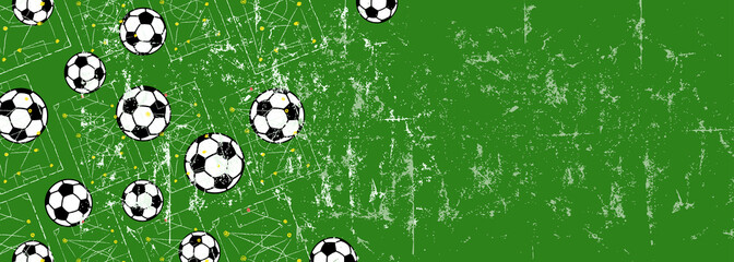 Soccer / footbal design template / background, free copy space