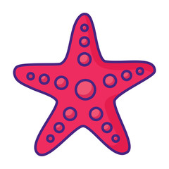 sea star icon over white background, vector illustration