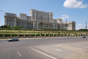 Romania; Palace of the Parliament; landmark; building; palace; sky