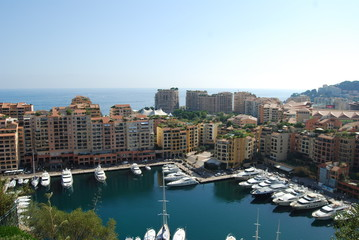 Port de Fontvieille; city; urban area; water; marina