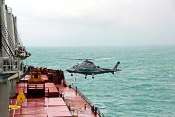 Вертолет, прием морского лоцмана, Австралия