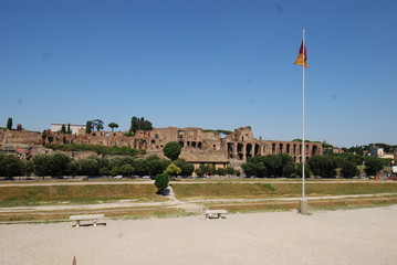 Circus Maximus; sky; plaza; daytime; city