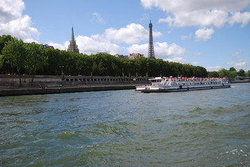 American Church in Paris; waterway; body of water; water transportation; river