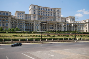 Romania; Palace of the Parliament; landmark; building; classical architecture; palace