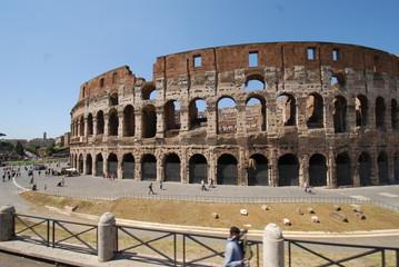 Colosseum; Colosseum; Rome; amphitheatre; historic site; landmark; ancient roman architecture