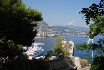 Monte-Carlo; waterway; water; sky; tree