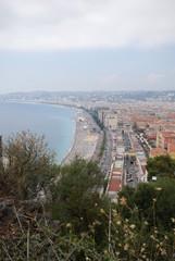 Promenade des Anglais; Nice; city; sky; coast; road