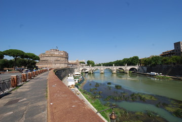 Castel Sant'Angelo; waterway; sky; body of water; water