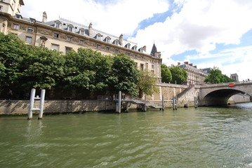 Paris; waterway; river; bridge; canal