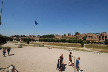 Circus Maximus; sky; town; atmosphere of earth; tourism