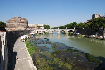 Castel Sant'Angelo; waterway; body of water; river; reflection