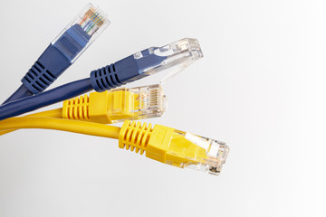 Telecommunication cable with colorful RJ45 plug