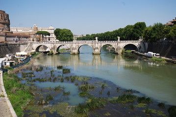 Castel Sant'Angelo; bridge; water; body of water; reflection