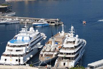 Monte-Carlo; passenger ship; marina; yacht; luxury yacht