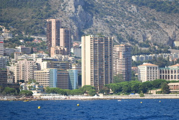 Monte-Carlo; city; sea; skyline; urban area
