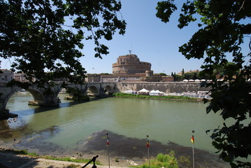 Castel Sant'Angelo; reflection; sky; water; tourist attraction