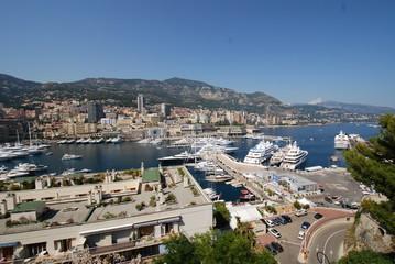 Port de Fontvieille; Monte-Carlo; marina; city; sea; sky