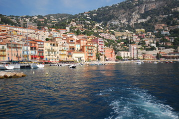 Port of Nice; Villefranche-sur-Mer; sea; body of water; coast; sky