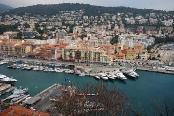 Port of Nice; Promenade des Anglais; marina; city; harbor; port