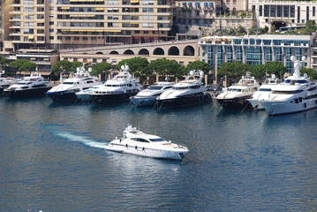 Port de Fontvieille; marina; water transportation; boat; waterway