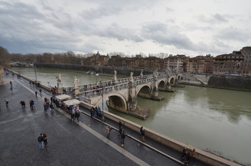 Ponte Sant`Angelo; waterway; river; water; bridge