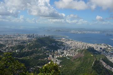 Rio de Janeiro; Botafogo Beach; Sugarloaf Mountain; sky; cloud; city; aerial photography