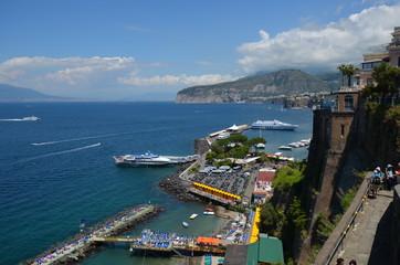 Marina Piccola; sea; coast; waterway; promontory