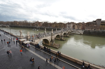 Ponte Sant'Angelo; bridge; river; water; waterway