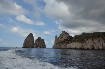 Faraglioni; coast; coastal and oceanic landforms; sea; rock