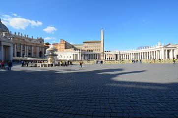 Saint Peter's Square; Saint Peter's Basilica; sky; town square; landmark; town