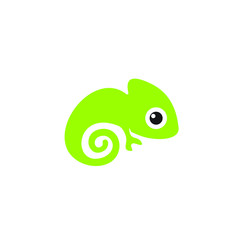 cute chameleon icon