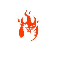 fire chicken clip art