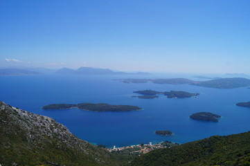 View of the islands from the top of Mount Scaros of Lefkada Island