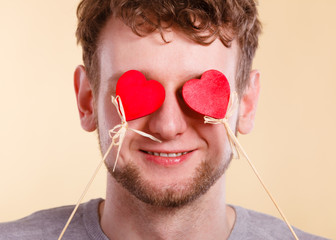 Man blinded by love.