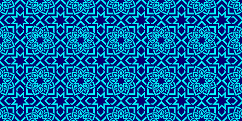 Islamic background. Arabic repeat texture. vector geometric seamless pattern. Elegant textures in eastern style. Bright colors. Flowers wallpaper for textile, fabric prints, fashion, interior designs