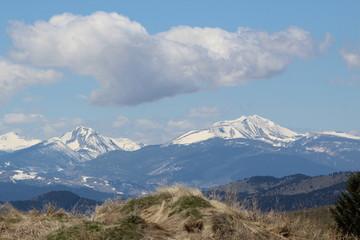 Snowy Montana mountains