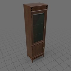 Tall wooden display cabinet
