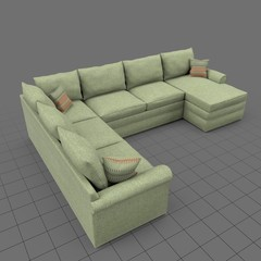 Large sectional corner sofa