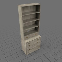 Tall traditional bookcase