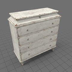 Worn-out traditional dresser