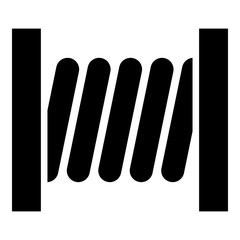Coil with wire icon black color illustration flat style simple image