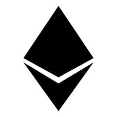 Etherium icon black color illustration flat style simple image