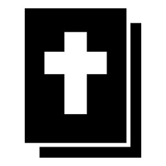 Bible icon black color illustration flat style simple image