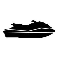 Waverunner icon black color illustration flat style simple image