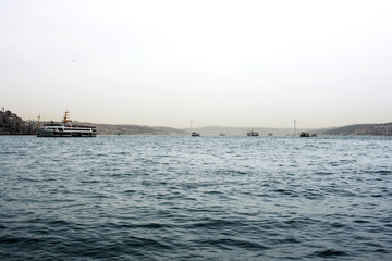 Panoramic view of the historical part of Istanbul. Turkey