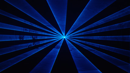 Wide blue laser beams at nightclub/music festival, alpha matte 2